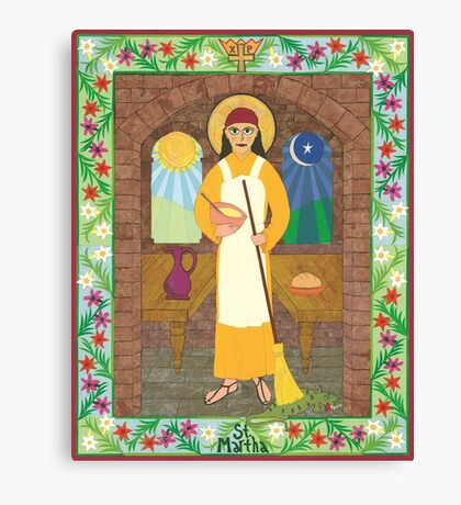 St. Martha Icon Canvas Print