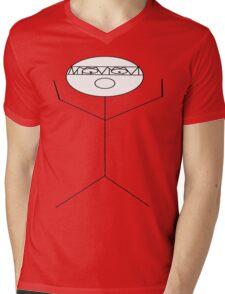 crazy criminal drummer stick figure Mens V-Neck T-Shirt