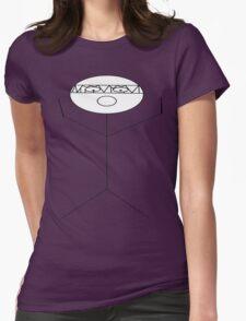 crazy criminal drummer stick figure Womens Fitted T-Shirt