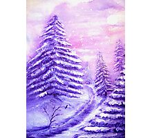 Christmas Snow Photographic Print