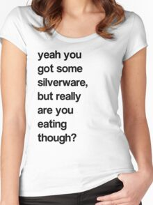 SILVER WHAT? Women's Fitted Scoop T-Shirt