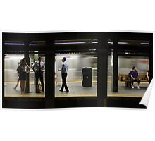Manhattan Subway Station Poster