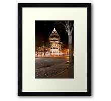 Natural History Museum Night Framed Print