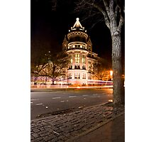 Natural History Museum Night Photographic Print