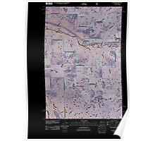 USGS Topo Map Washington State WA Nagrom 20110428 TM Inverted Poster