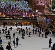 USA. New York. Skating Rink at Rockefeller Center. by vadim19