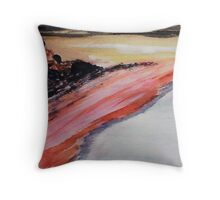 Beach to eternity, abstract, watercolor Throw Pillow
