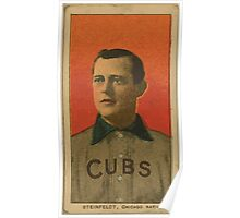 Benjamin K Edwards Collection Harry Steinfeldt Chicago Cubs baseball card portrait 001 Poster