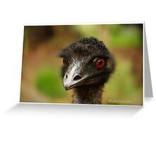 Portrait of an emu in colour  Greeting Card