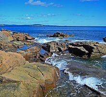 Rush of Tide at Thunder Hole by Lynda Lehmann
