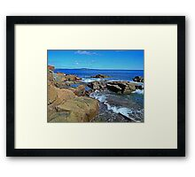 Rush of Tide at Thunder Hole Framed Print