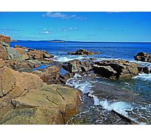 Rush of Tide at Thunder Hole Photographic Print