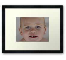 Bathtime Smiles Framed Print