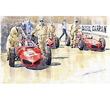 Monaco GP 1961 Ferrari 156 Sharknose Photographic Print