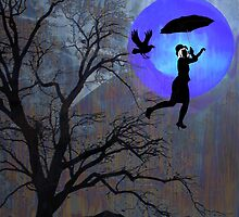 Bluemoon Flying by Sherryll  Johnson