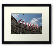 Flags fly on Admiralty Arch Framed Print