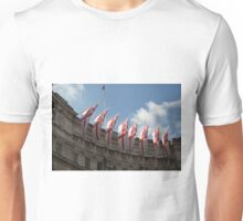 Flags fly on Admiralty Arch Unisex T-Shirt
