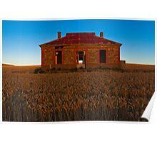 Burra Ruin in Sunset Light Poster