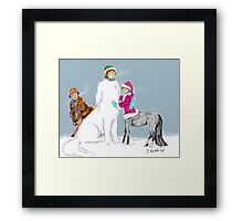 Raph and Family's Snow Day Framed Print