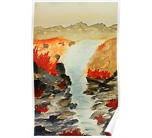 After the flash flood the desert  thrives, watercolor Poster