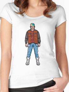 NOW IS THE FUTURE - Marty Mcfly 2015 Women's Fitted Scoop T-Shirt