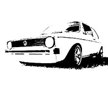 MK 1 Golf outline Photographic Print