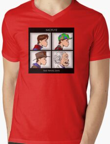 Time Travel Days Mens V-Neck T-Shirt