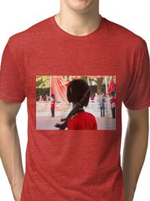 Guardsman on duty in the mall Tri-blend T-Shirt