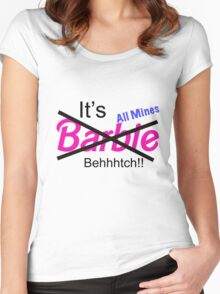 """""""Not Barbie"""" (BLACK) Women's Fitted Scoop T-Shirt"""