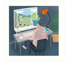 Working Window Art Print