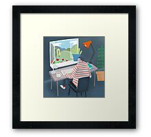 Working Window Framed Print