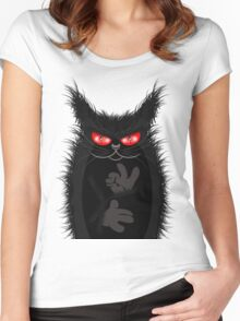 IAGO THE MIDNIGHT CAT Women's Fitted Scoop T-Shirt