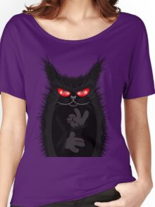 IAGO THE MIDNIGHT CAT Women's Relaxed Fit T-Shirt