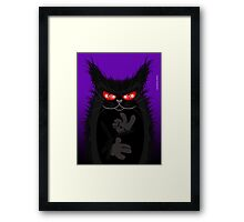 IAGO THE MIDNIGHT CAT Framed Print