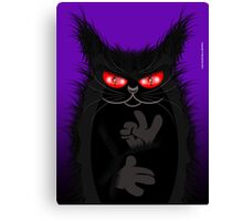 IAGO THE MIDNIGHT CAT Canvas Print