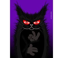 IAGO THE MIDNIGHT CAT Photographic Print