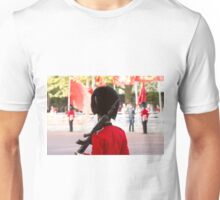 Guardsman on duty in the mall Unisex T-Shirt