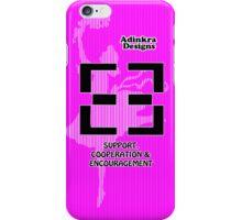 10-iphone4-Adinkra-Series-Support-Cooperation-Encouragement iPhone Case/Skin