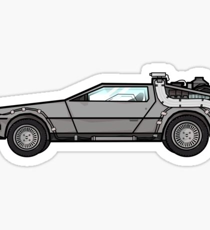 NOW IS THE FUTURE - Delorean 1985 Sticker