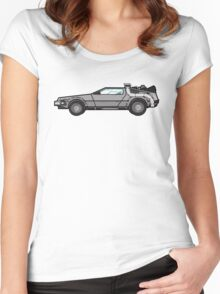 NOW IS THE FUTURE - Delorean 1985 Women's Fitted Scoop T-Shirt