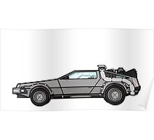 NOW IS THE FUTURE - Delorean 1985 Poster