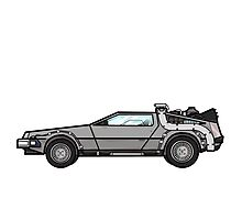 NOW IS THE FUTURE - Delorean 1985 Photographic Print