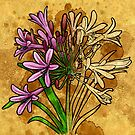 Agapanthus (floral) by Barbara Glatzeder