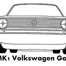 Mk1 Golf caricature by Sharon Poulton