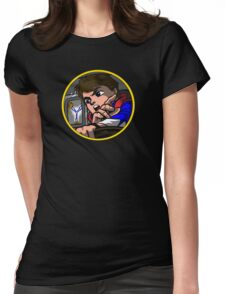 Time Travel Racer Womens Fitted T-Shirt