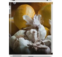 Lemons and Garlic Still Life iPad Case/Skin