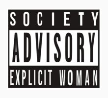 Society Advisory Explicit Woman One Piece - Long Sleeve