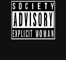 Society Advisory Explicit Woman Womens Fitted T-Shirt