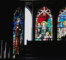 Stained Glass _ Basilique Notre Dame de Montreal by Shubd