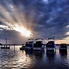 Sunset Rays - Swansea NSW Australia by Bev Woodman